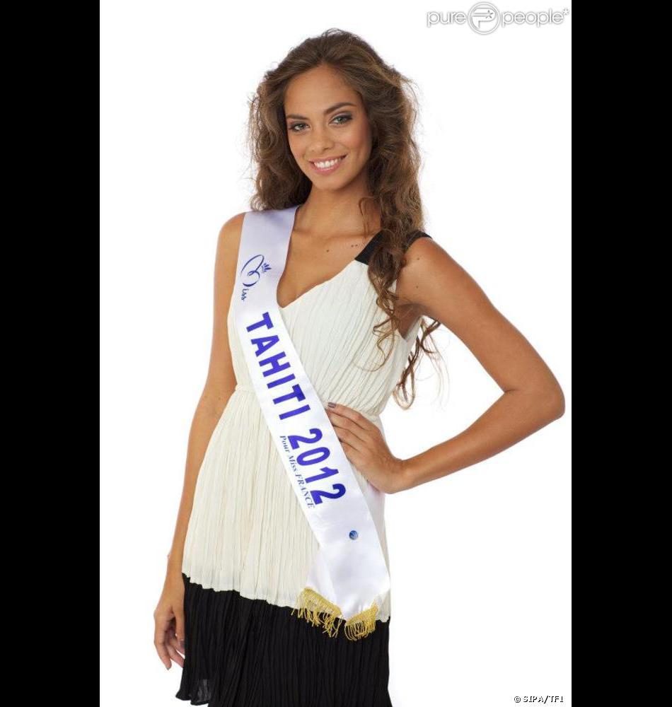 Hinarani De Longeaux, Miss Tahiti, candidate pour Miss France 2013, le 8 décembre 2012 sur TF1