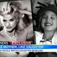 Dannielynn et sa maman Anna Nicole Smith, image de la chaîne ABC pour  ABC News  et  Good Morning America , mardi 27 novembre 2012.