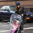 Sarah Jessica Parker emmène ses enfants, Marion, Tabitha et James à l'école à New York le 27 Novembre 2012.