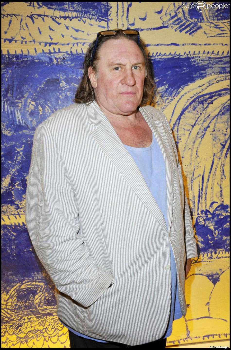 Gérard Depardieu lors de la 2e édition du prix Barbara le 21 juin 2011