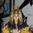 Le mannequin Heidi Klum déguisée en Cléopâtre lors de sa soirée post-Halloween (elle avait reporté sa fête d'Halloween à cause de l'ouragan Sandy). A New York, le 1er décembre 2012
