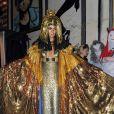 Heidi Klum somptueuse déguisée en Cléopâtre lors de sa soirée post-Halloween (elle avait reporté sa fête d'Halloween à cause de l'ouragan Sandy). A New York, le 1er décembre 2012