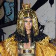 Heidi Klum méconaissable déguisée en Cléopâtre lors de sa soirée post-Halloween (elle avait reporté sa fête d'Halloween à cause de l'ouragan Sandy). A New York, le 1er décembre 2012
