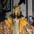 Heidi Klum déguisée en Cléopâtre lors de sa soirée post-Halloween (elle avait reporté sa fête d'Halloween à cause de l'ouragan Sandy). A New York, le 1er décembre 2012