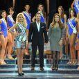 Présentation des candidates de l'élection Miss Prestige National 2013 au Lido le 5 décembre 2012 en présence de Bernard Montiel