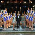 Présentation des superbes candidates de l'élection Miss Prestige National 2013 au Lido le 5 décembre 2012 en présence de Bernard Montiel