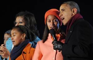 Barack Obama, Michelle et leurs filles : Ensemble pour allumer le sapin de Noël