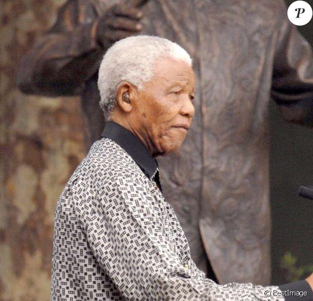 Nelson Mandela à Londres le 29 août 2007