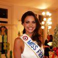 Marine Lorphelin, Miss France 2013, à Paris le 10 decembre 2012 pour la 17ème edition des sapins de Noël des créateurs à l'hôtel Salomon de Rothschild