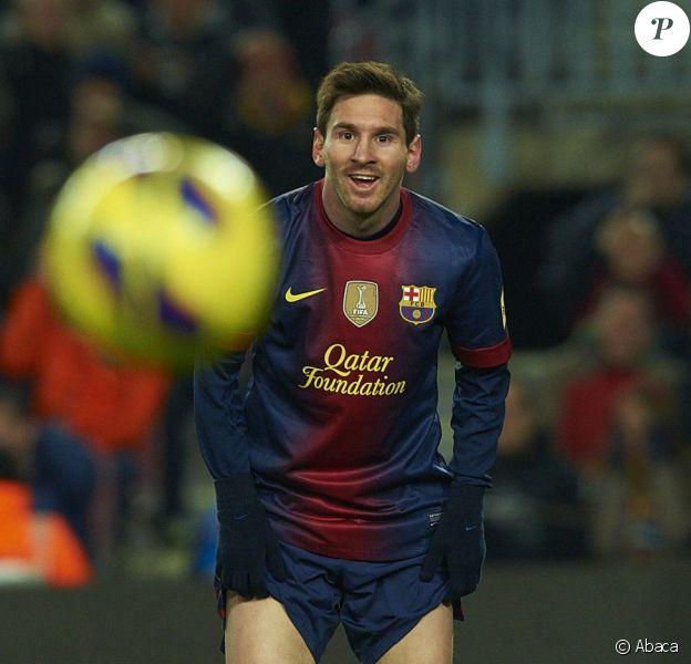 Lionel Messi lors du match entre le FC Barcelone et l'Athletic Bilbao à Barcelone le 1er décembre 2012