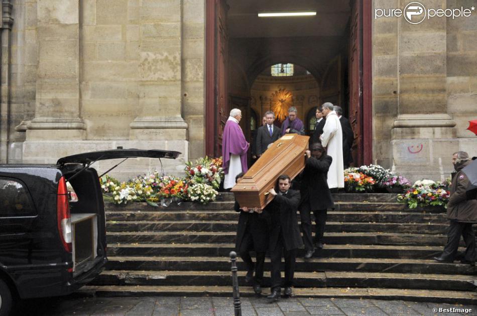 Obsèques de Jacques Rigaud en l'Eglise Notre-Dame-des-Blancs-Manteaux. Le 14 decembre 2012 à Paris.