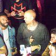 Chris Brown fait la fête au Palais Maillot après son concert au Palais Omnisports de Bercy, à Paris. Le 7 décembre 2012.