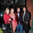 Paris Hilton et son petit ami River Viiperi prennent la pose à côté des parents de la starlette : Rick et Kathy Hilton. Ils étaient au célèbre restaurant Mr Chow à Los Angeles, le 15 décembre 2012.