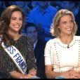 Marine Lorphelin et Sylvie Tellier sur le plateau d'On n'est pas couché sur France 2 le samedi 15 décembre 2012