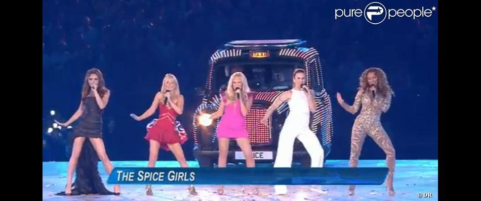 Les Spice Girls se sont reformées exceptionnellement le temps de la cérémonie de clôture des Jeux olympiques de Londres, le 12 août 2012.