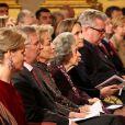La famille royale de Belgique assistait le 19 décembre 2012 au palais Laeken, à Bruxelles, au concert de Noël annuel, suivi d'une réception.