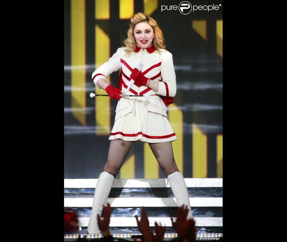 Madonna en concert poour le MDNA Tour au Rogers Arena à Vancouver, au Canada, le 29 septembre 2012.