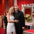 Photos exclusives : Morgan choisit Karen lors de la finale de l'émission le 21 décembre 2012, avec sa maman Pascale, devant Elsa Fayer