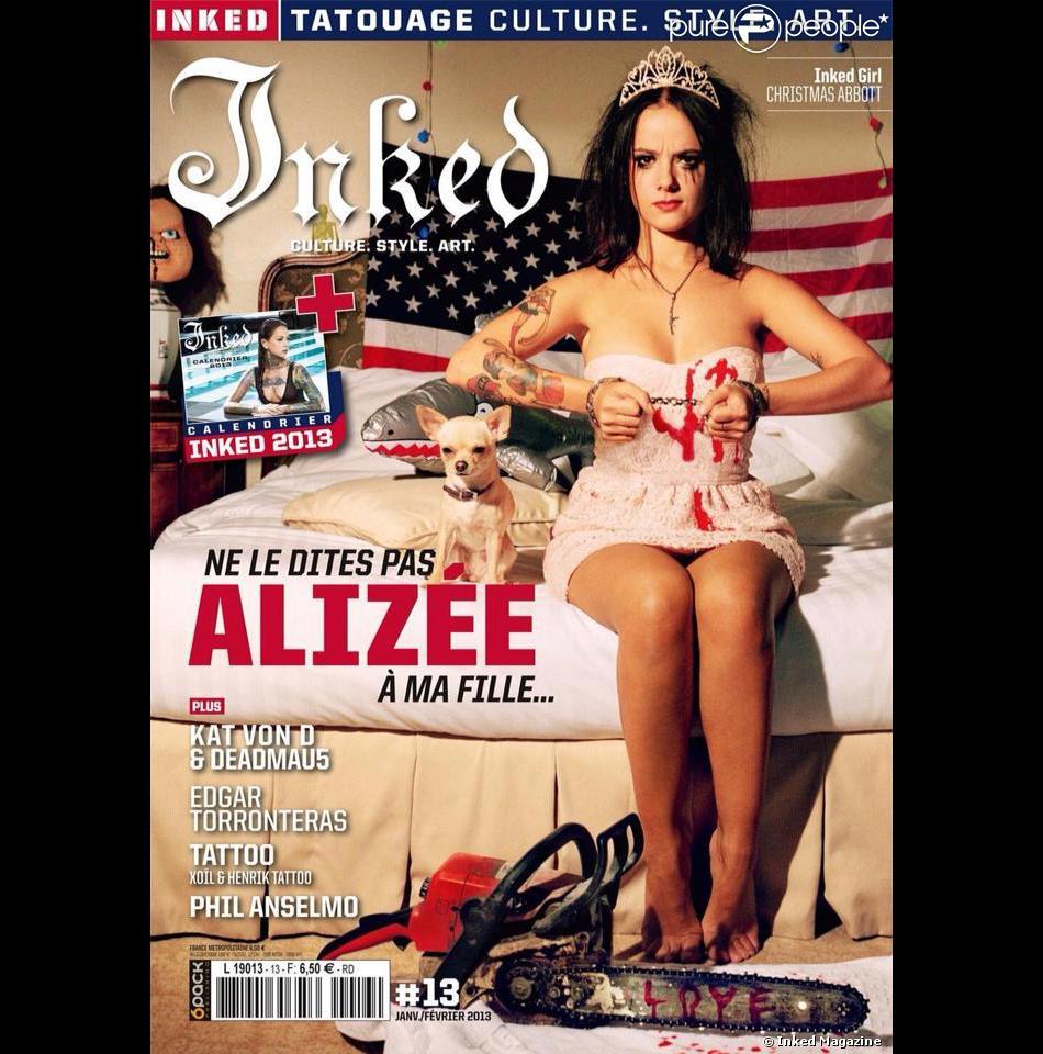 Alizee Nue Photo alizée : grungy, tatouée et ensanglantée en couverture d