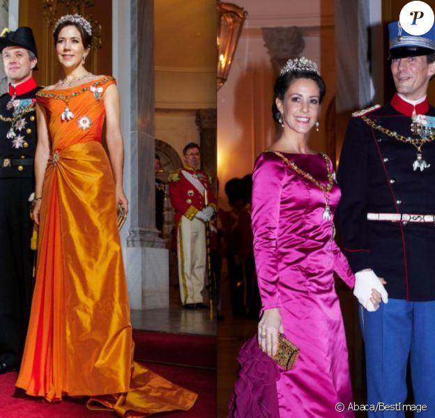 Les princesses Mary et Marie de Danemark ont brillé au gala du Nouvel An au palais Amalienborg, à Copenhague, le 1er janvier 2013