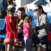 Jennifer Garner et Ben Affleck : Amoureux et fans de leurs filles sur la glace
