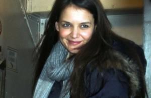 Katie Holmes garde le sourire pour l'avant-dernière de sa pièce à Broadway