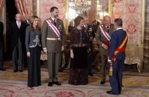 Letizia et Sofia d'Espagne élégantes et discrètes pour la Pâque militaire
