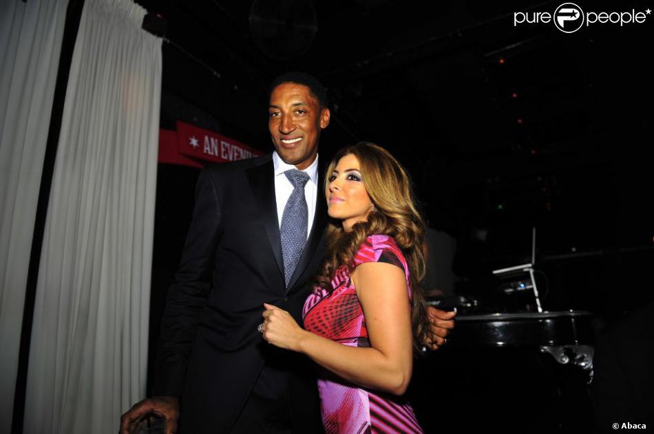 Scottie Pippen et sa femme Larsa étaient mis à l'honneur lors de la soirée de charité An Evening with the Chicago Bulls au United Center de Chicago le 8 janvier 2013