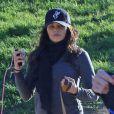Enceinte, Jenna Dewan promène ses chiens à Los Angeles, le 11 Janvier 2013