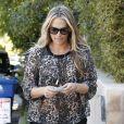 L'actrice Molly Sims se rend chez une amie à Los Angeles avec son fils Brooks Stuber, le 10 janvier 2013.