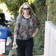 Molly Sims se rend chez une amie à Los Angeles avec son fils Brooks Stuber, 6 mois, le 10 janvier 2013.