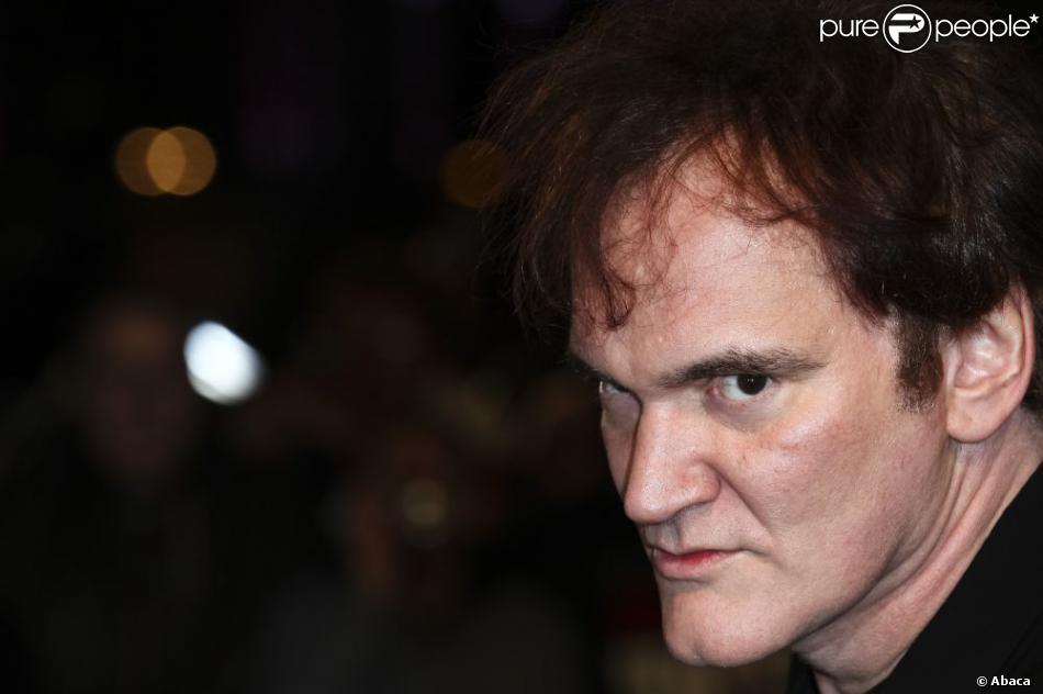 Quentin Tarantino pendant la première de Django Unchained à Londres, le 10 janvier 2013.