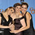 Allison Williams, Lena Dunham, Zosia Mamet, à la 70ème soirée des Golden Globe Awards à Beverly Hills, le 13 Janvier 2013.