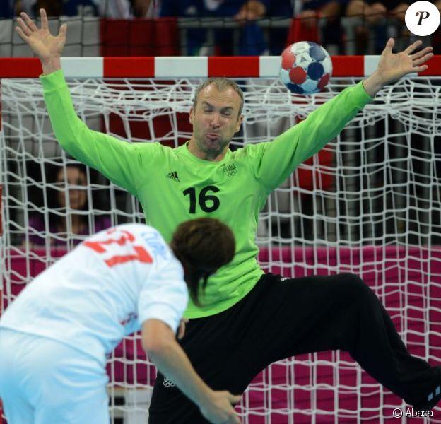 Thierry Omeyer lors des Jeux olympiques de Londres le 10 août 2012