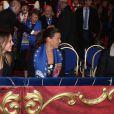 Pauline et Louis Ducruet avec leur mère la princesse Stéphanie de Monaco lors du Festival international du Cirque de Monte-Carlo le 18 janvier 2013