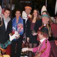 Louis Ducruet, la princesse Stéphanie de Monaco, Pauline Ducruet et Camille Gottlieb lors du Festival international du Cirque de Monte-Carlo le 18 janvier 2013