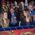 Pauline Ducruet et Camille Gotlieb lors du Festival international du Cirque de Monte-Carlo le 18 janvier 2013