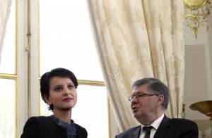 Najat Vallaud-Belkacem, ravissante et attentive lors des voeux du gouvernement