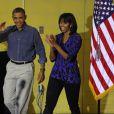 Barack Obama et sa femme Michelle participent au National Day of Service, journée de bénévolat, dans une école de Washington, Burrville Elementary School, le 19 janvier 2013