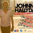 L'affiche de la tournée événement de Johnny Hallyday.