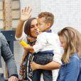 Alicia Keys et son fils Egypt né en 2010, à Londres le 26 septembre 2012.