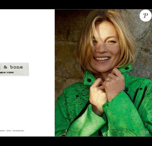 Kate Moss photographiée par Alasdair McLellan pour la campagne printemps-été 2013 de Rag & Bone.