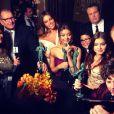 L'actrice Sofia Vergara a posté sur Twitter des photos lors de la soirée des SAG Awards, dimanche 27 janvier 2013 à Los Angeles.