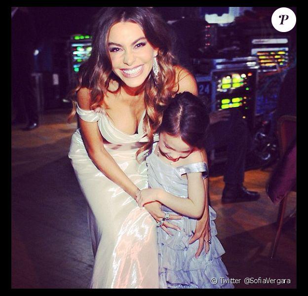 Sofia Vergara et Aubrey Anderson-Emmons. L'actrice a posté sur Twitter des photos lors de la soirée des SAG Awards, dimanche 27 janvier 2013 à Los Angeles.