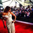 Sofia Vergara a posté sur Twitter des photos lors de la soirée des SAG Awards, dimanche 27 janvier 2013 à Los Angeles. On la voit ici sur le tapis rouge.