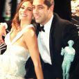 Sofia Vergara et son fiancé Nick Loeb. L'actrice a posté sur le réseau social Who Say des photos de la soirée des SAG Awards, le 27 janvier 2013 à Los Angeles.