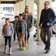Heidi Klum va faire des courses avec son nouveau compagnon Martin Kristen et ses enfants à Los Angeles, le 27 janvier 2013.