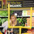 Heidi Klum au supermarché avec son nouveau compagnon Martin Kristen et ses enfants à Los Angeles, le 27 janvier 2013.