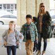 Heidi Klum et ses enfants en session courses à Los Angeles, le 27 janvier 2013.