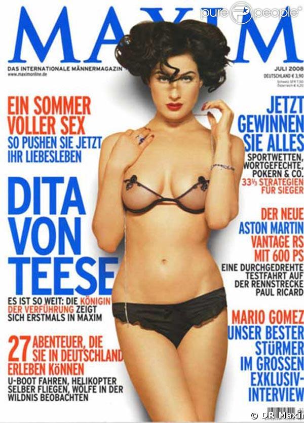 Dita von Teese pour Maxim